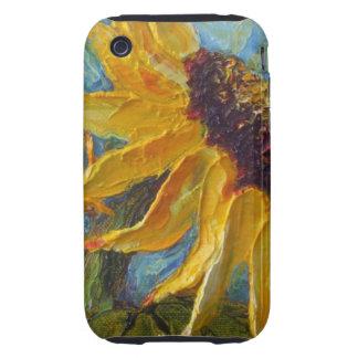 Caja amarilla del iPhone 3 del girasol Carcasa Though Para iPhone 3