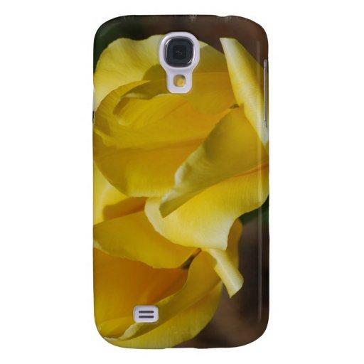 Caja amarilla del iPhone 3G de los tulipanes
