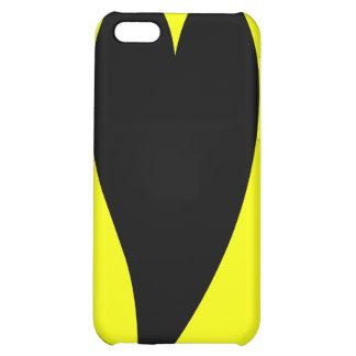 Caja amarilla del iPhone 4 del corazón