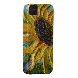 Caja amarilla del iPhone 4 del girasol Carcasa Para iPhone 4