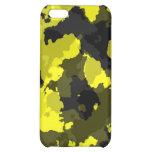 Caja amarilla del iPhone 4G del camuflaje