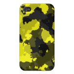 Caja amarilla del iPhone 4G del camuflaje iPhone 4 Cárcasa