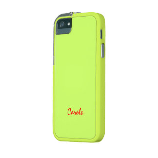 Caja amarilla del iPhone 5 de Carola