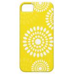 Caja amarilla del iPhone 5 de las flores del veran iPhone 5 Carcasa