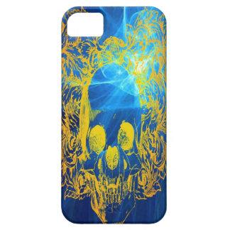 Caja amarilla del iPhone 5 del cráneo Funda Para iPhone SE/5/5s