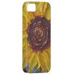 Caja amarilla del iPhone 5 del girasol iPhone 5 Case-Mate Cárcasa