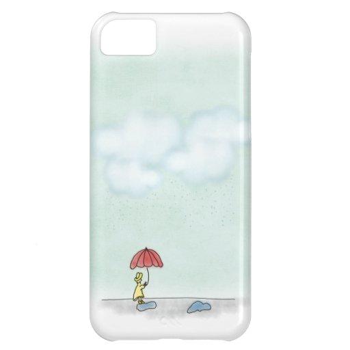 Caja amarilla del iPhone 5 del impermeable