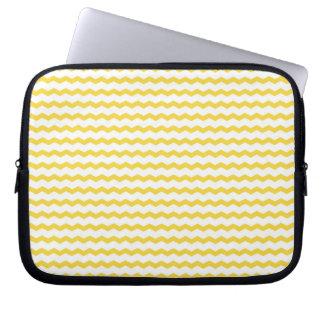 Caja amarilla del ordenador portátil de Chevron Funda Portátil