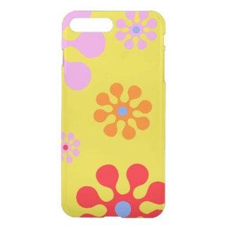 Caja amarilla del teléfono de las flores fundas para iPhone 7 plus