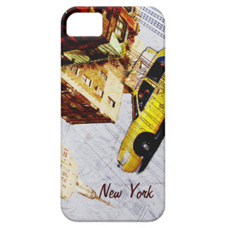 Caja amarilla del teléfono del taxi de Nueva York iPhone 5 Fundas