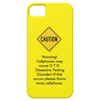 Caja amarilla del teléfono iPhone 5 carcasa