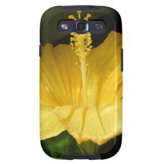 Caja amarilla floreciente de la galaxia de Samsung Galaxy S3 Protector