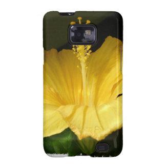 Caja amarilla floreciente de la galaxia de Samsung Samsung Galaxy SII Funda