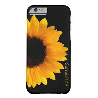 Caja amarilla grande del iphone 6 del girasol funda barely there iPhone 6