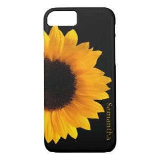 Caja amarilla grande del iphone 7 del girasol funda iPhone 7