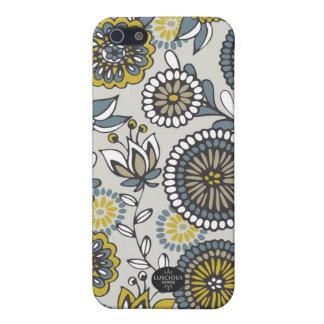 Caja amarilla, gris y blanca del iphone 5 iPhone 5 coberturas