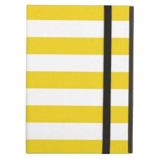 Caja amarilla limón del aire del iPad de las rayas