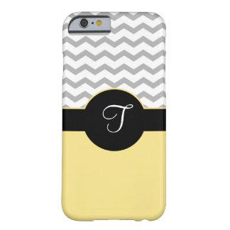 Caja amarilla negra gris del iPhone 6 del diseño Funda De iPhone 6 Barely There