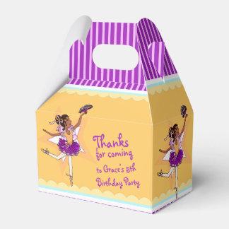 Caja amarilla púrpura del favor del cumpleaños de cajas para regalos de fiestas
