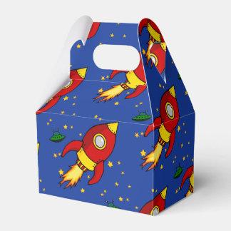 Caja amarilla roja del favor del aguilón de Rocket Cajas Para Detalles De Boda
