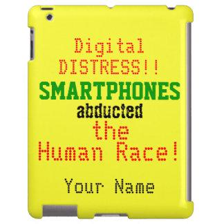 Caja amarilla roja verde negra del iPad del humor