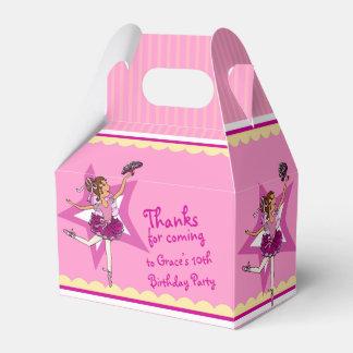 Caja amarilla rosada del favor del cumpleaños de cajas para regalos de fiestas