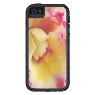 Caja amarilla rosada del iPhone 5 de la orquídea.  iPhone 5 Case-Mate Protectores