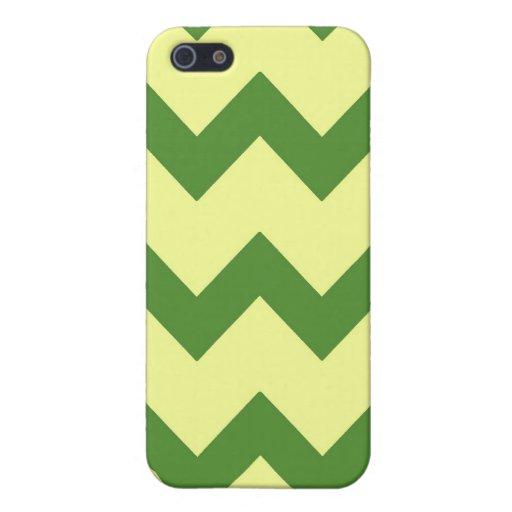 Caja amarilla verde de la mota de los galones iPhone 5 funda
