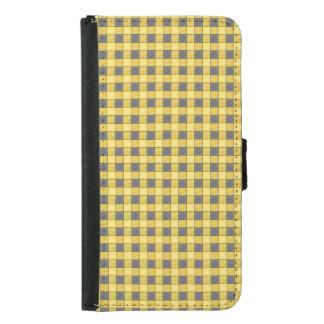 Caja amarilla y negra de la cartera del control S5