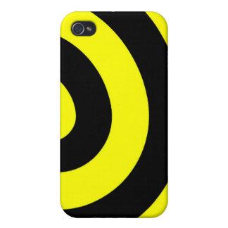 Caja amarilla y negra del iPhone 4 de la vuelta iPhone 4 Funda
