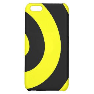 Caja amarilla y negra del iPhone 4 de la vuelta