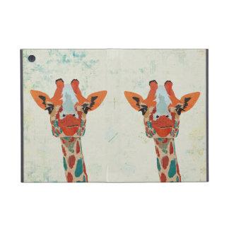 Caja ambarina del iPad de las jirafas que mira a e iPad Mini Cárcasas