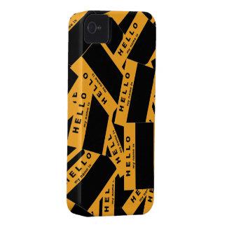 Caja (ambarina) del iPhone del ébano de Merhaba Carcasa Para iPhone 4