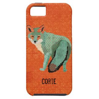 Caja ambarina del iPhone del Fox de Smokey iPhone 5 Funda