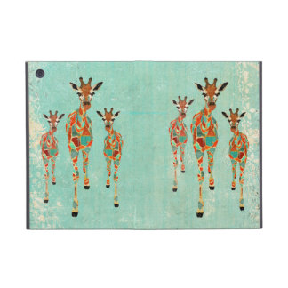 Caja ambarina y azul de las jirafas iPad mini cárcasas