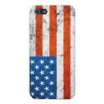 Caja americana de la bandera 4G del Grunge iPhone 5 Cobertura