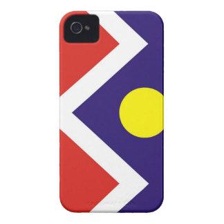 caja americana de la bandera de la ciudad de iPhone 4 Case-Mate funda