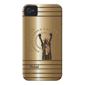 Caja americana de oro del iPhone 4 de la libertad iPhone 4 Case-Mate Cobertura