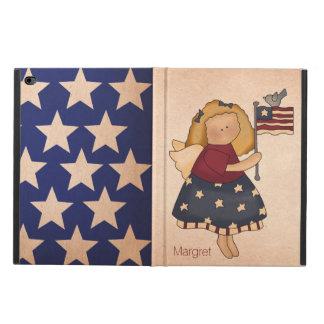 Caja americana del aire 2 del iPad del chica de la