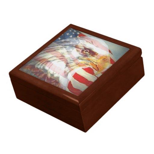 Caja americana del recuerdo del orgullo caja de regalo