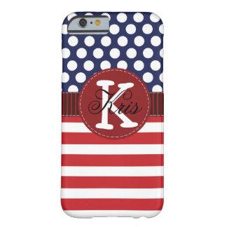 Caja americana patriótica del iPhone 6 Funda Para iPhone 6 Barely There