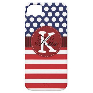 Caja americana patriótica del iPhone personalizada iPhone 5 Case-Mate Carcasa