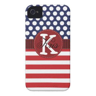 Caja americana patriótica del iPhone personalizada iPhone 4 Case-Mate Coberturas