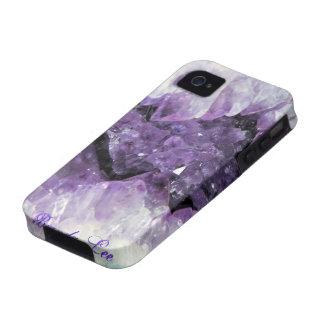 Caja Amethyst del iPhone 4 de Geode 3D iPhone 4/4S Carcasa