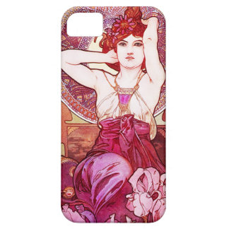 Caja Amethyst del iPhone 5 de Alfonso Mucha iPhone 5 Case-Mate Carcasa