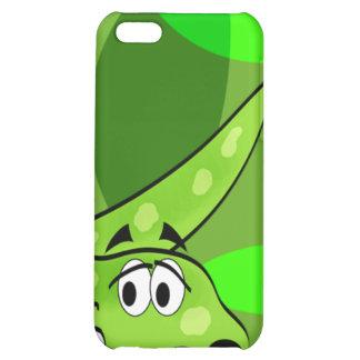 Caja amistosa del iPhone del dinosaurio verde