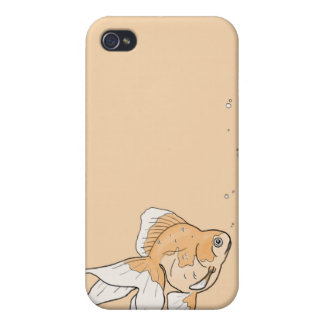 Caja anaranjada 4G de Iphone del Goldfish iPhone 4/4S Fundas