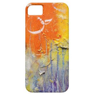 Caja anaranjada abstracta del teléfono de Haqq iPhone 5 Coberturas