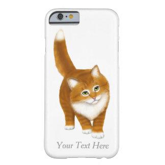Caja anaranjada amistosa del iPhone 6 del gatito