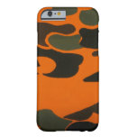 Caja anaranjada de Camo para el caso del iPhone 6 Funda Para iPhone 6 Barely There